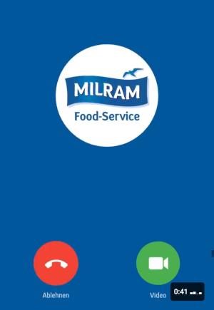 Milram Guerilla Marketing auf LinkedIn